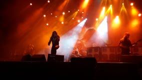 Manowar konsert Royaltyfria Foton