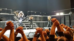 Manowar performing on stage Royalty Free Stock Images