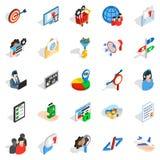 Manpower icons set, isometric style Royalty Free Stock Photo