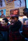 Manprotester på Union Square NYC Arkivfoto