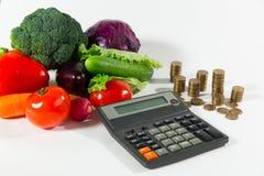 Manque d'argent sur la nourriture biologique, concept de pauvreté photographie stock