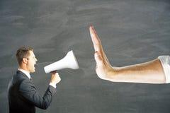 Manque de communication images stock