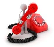 manredtelefon royaltyfri illustrationer