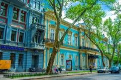 A mansão azul Imagens de Stock