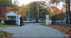 A mansão de Drumthwhacket em Princeton, residência oficial do regulador de New-jersey fotografia de stock royalty free