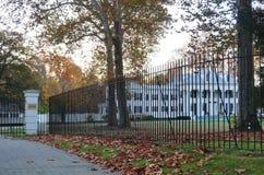 A mansão de Drumthwhacket em Princeton, residência oficial do regulador de New-jersey Foto de Stock Royalty Free