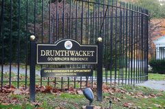 A mansão de Drumthwhacket em Princeton, residência oficial do regulador de New-jersey Foto de Stock