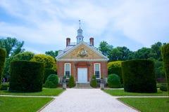 A mansão do regulador em Williamsburg colonial Fotografia de Stock