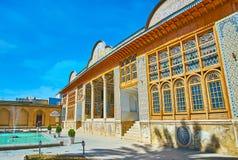 Mansão histórica do complexo de Naranjestan, Shiraz, Irã Fotos de Stock Royalty Free