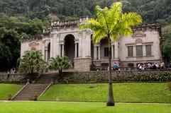Mansão italiana do estilo da arquitetura em Parque Lage em Rio de janeiro Foto de Stock