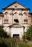Mansão nobre abandonada velha Imagem de Stock