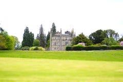 Mansão privada dos jardins do verde do verão da universidade de Ross Priory Loch Lomond Gartocharn Escócia Glasgow abandonada fotografia de stock royalty free