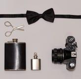 Mans accessoria gli elementi essenziali Fotografia Stock