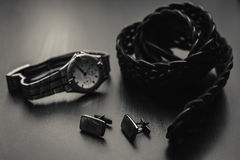 Mans accessories. Royalty Free Stock Photo