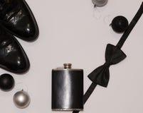 Mans accessorize предметы первой необходимости Стоковая Фотография RF