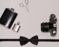 Mans accessorize предметы первой необходимости стоковая фотография