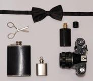 Mans accessorize essentials Stock Photos