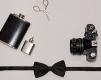 Mans accessorize essentials Stock Photography