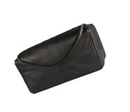 Mans black leather accessory bag or pouch Stock Image