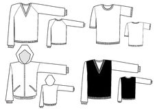 Mans clothes.Vector fashion illustration isolated  Stock Photography