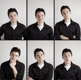 Mans emotions Royalty Free Stock Photo