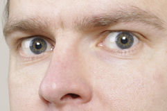 Mans eyes Stock Image