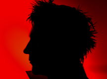 Mans face silhouette Royalty Free Stock Image