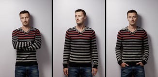 Mans fashion portrait d Royalty Free Stock Image