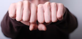 Mans fists Royalty Free Stock Photography