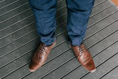 Mans formal shoes. Man formal shoes for special occasions Royalty Free Stock Photo