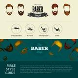 Mans håruppsättningen av skägg och mustaschvektorn Skägg för Hipsterstilmode och hårillustration folk stock illustrationer
