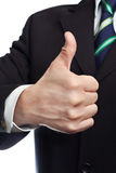 Mans hand with thumb up Stock Photography