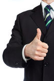 Mans hand with thumb up. Isolated royalty free stock photography