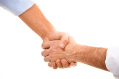 Man�s handshake Royalty Free Stock Photos