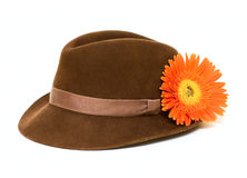 Mans hat with flower Stock Image