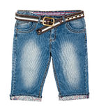Mans jeans shorts Stock Photo