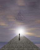 Mans Journey of the Soul. High Resolution Mans Journey of the Soul Royalty Free Stock Images