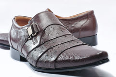 Mans leather fashion shoes Stock Image