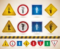 Mans occupation. Man's occupation icons set - 4 icons for to represent different kind of professions, from left to right Royalty Free Stock Photo