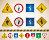 Mans occupation. Man's occupation icons set - 4 icons for to represent different kind of professions, from left to right Royalty Free Stock Photography