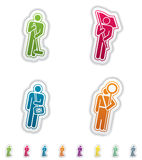 Mans occupation. Man's occupation, from left to right, top to bottom Royalty Free Stock Photo