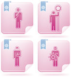 Mans Occupation Set. To picture some sort peoples proffesion (part of Flamingo Square 2D Icons Set Stock Photography