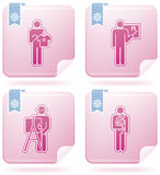 Mans Occupation Set. To picture some sort peoples proffesion (part of Flamingo Square 2D Icons Set Stock Images