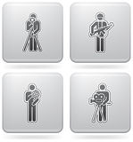 Mans Occupation Set. To picture some sort peoples proffesion (part of Platinum Square 2D Icons Set Royalty Free Stock Images