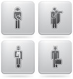 Mans Occupation Set. To picture some sort peoples proffesion (part of Platinum Square 2D Icons Set Stock Images