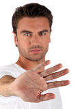 Mans palm Royalty Free Stock Photo