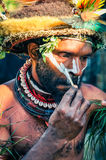 Mans preparation in Papua New Guinea Stock Photography