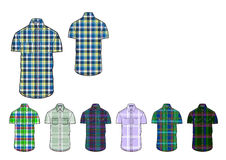 Mans slim fit casual check shirt design for cotton and blended yarn Royalty Free Stock Photography
