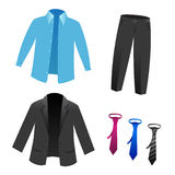 Mans suit set isolated Royalty Free Stock Images