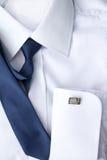 Mans vita skjorta Fotografering för Bildbyråer